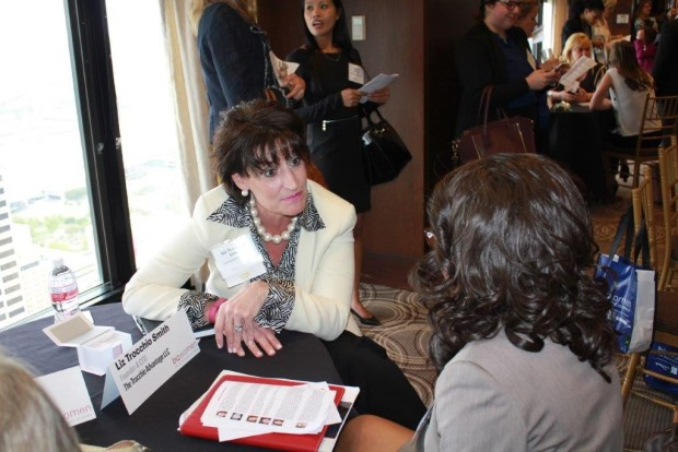 Liz Trocchio Smith, founder & CEO of the Trocchio Advantage LLC mentors to a sold out crowd.